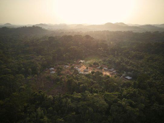 panorama su un villaggio africano
