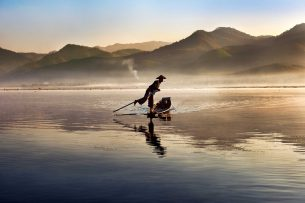 Fisherman on the Intha Lake