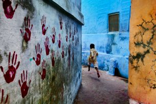 Boy running in Jodhpur