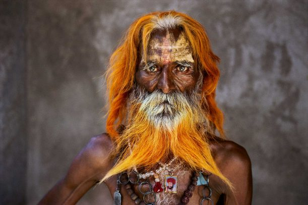 Rabari Tribal Elder with orange henne beard