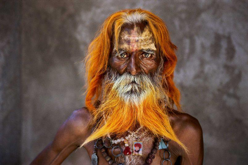Rabari Tribal Elder with orange henne beard