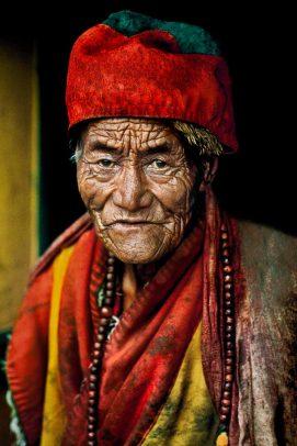 Old Tibetan monk