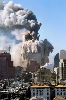 Twin tower collapsing on 9/11