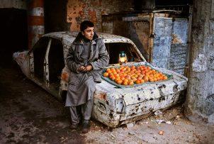 Orange seller in Kabul