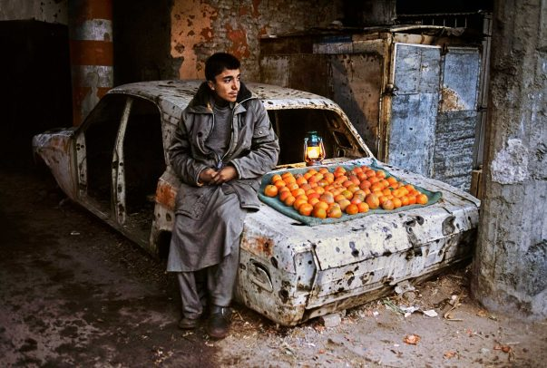 Orange seller in Kabul