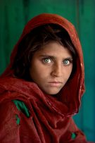 Afghan girl in a refugee camp in Peshawar