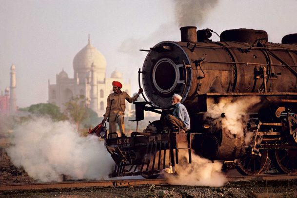 Taj Mahal and train