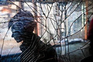 Reflection in a broken mirror