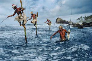 Fishermen at Weligama