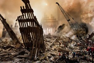 Remains of the world trade centre