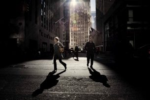 A street corner of New York City