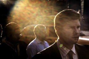 Passer-bys at Ground Zero.