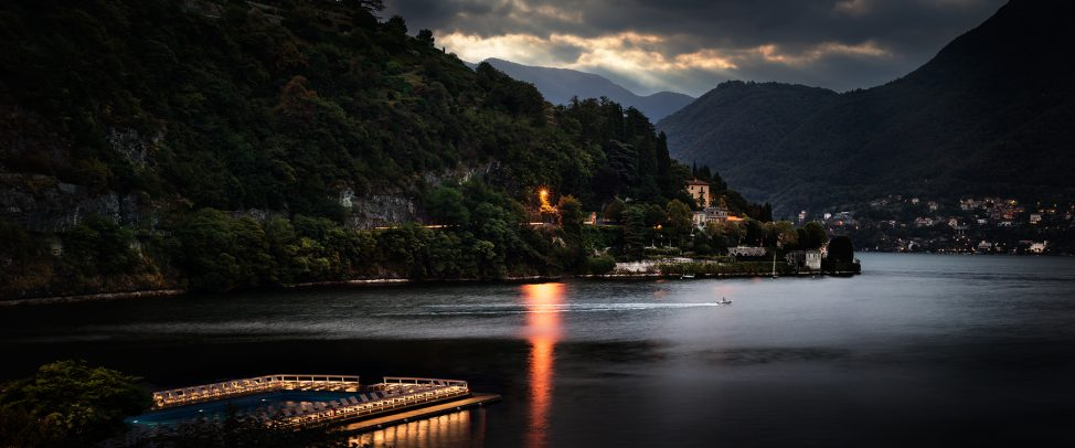 lake of Como at dusk