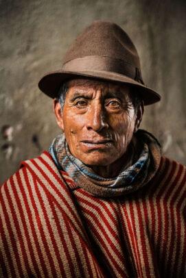 potrait of a man in Ecuador