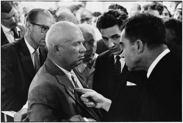 Nikita Khrushchev and Richard Nixon by Elliott Erwitt