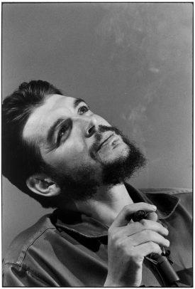 portrait of Che Guevara smoking cigar
