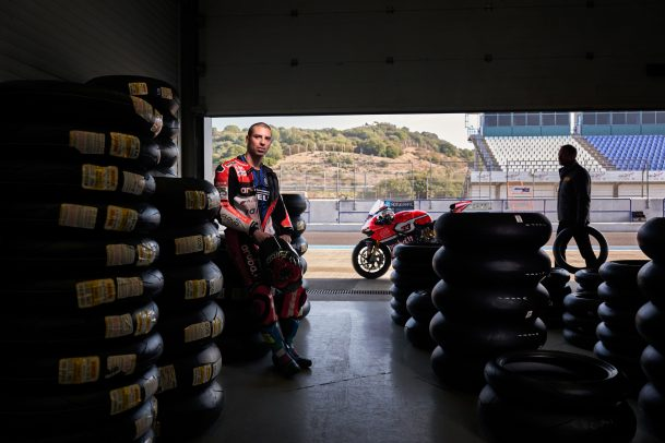 Marco Melandri for Pirelli Portrait by Eolo Perfido