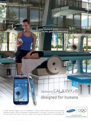 Samsung Advertising with Tania Cagnotto at the pool