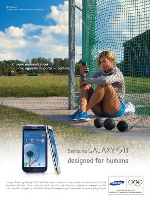 Samsung advertising with Silvia Salis training