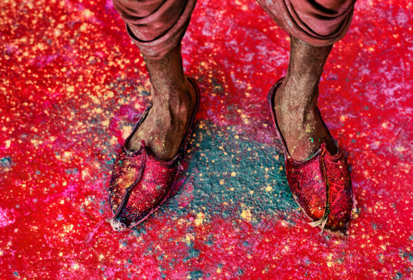 Red Shoes at Holi Festival