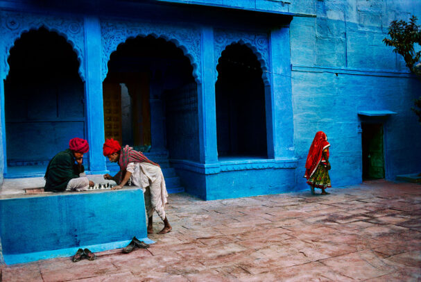 Men Playing Chess in Jodhpur, India