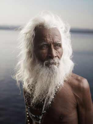 indian old man with white beard