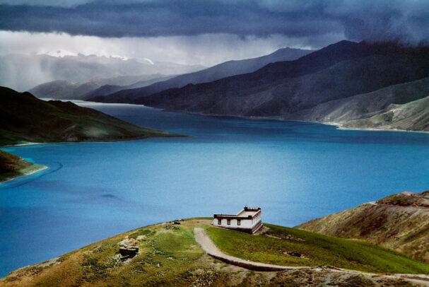landscape of tibetan Holy Lake