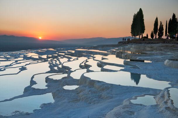 terraces at sunset Turkey