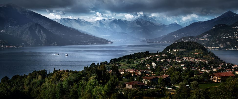view of Como and his lake and mountains