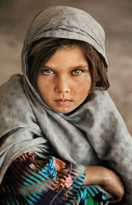 young afghan girl with shawl