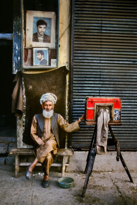 old photographer with an old camera in Kabul