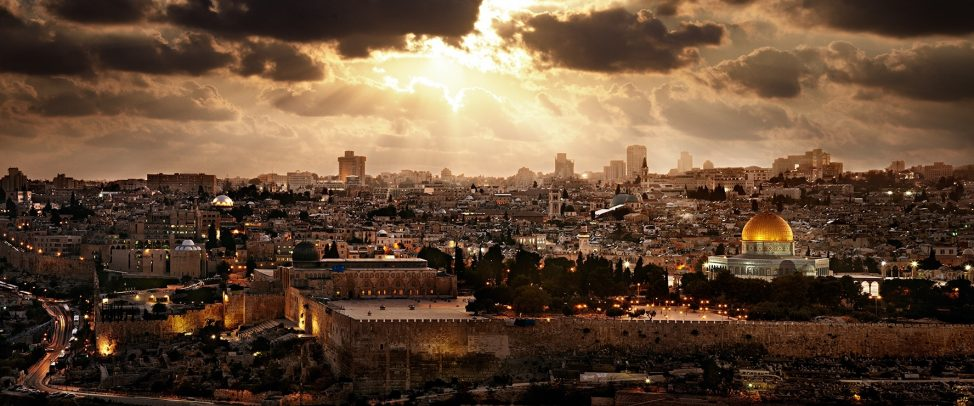 city landscape of Jerusalem and the