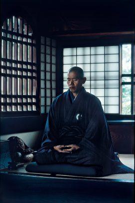 japanese man meditating
