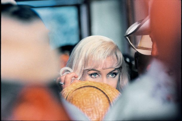 Marilyn Monroes's eyes on the set of Misfits
