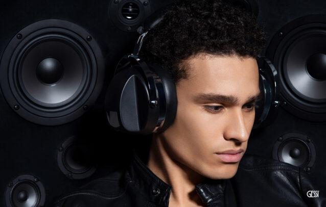 man with headphones for Gessi by Susi Belianska