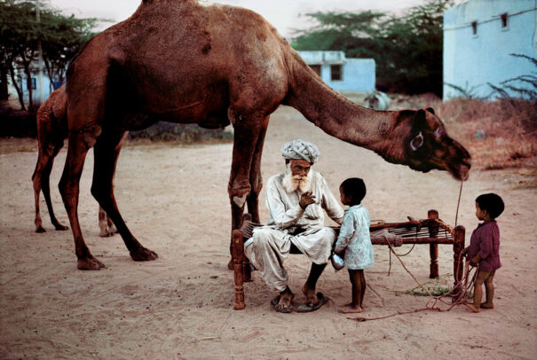 A grandson takes orders to fetch water