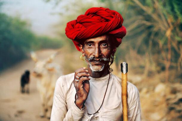 rabari shepard with red turban