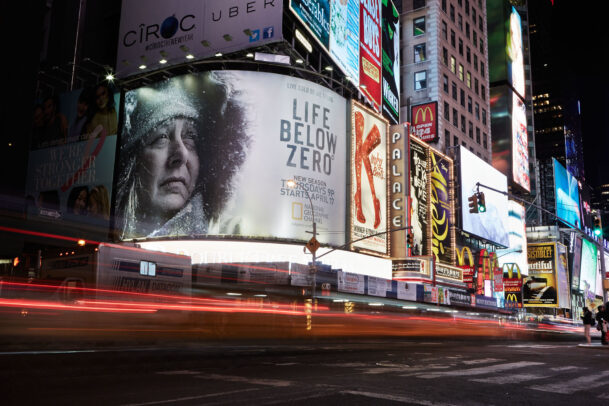 billboards in times square for Life Below Zero by Joey L.