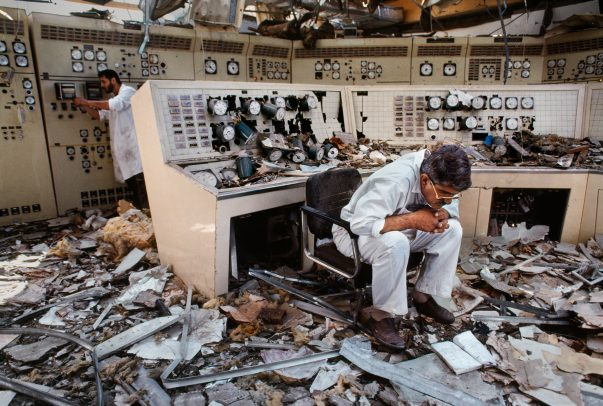 Destroyed control room in Kuwait City