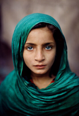 girl with green shawl