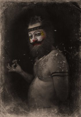 horror clown with