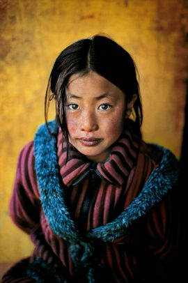 Tibetan Girl in a new Coat