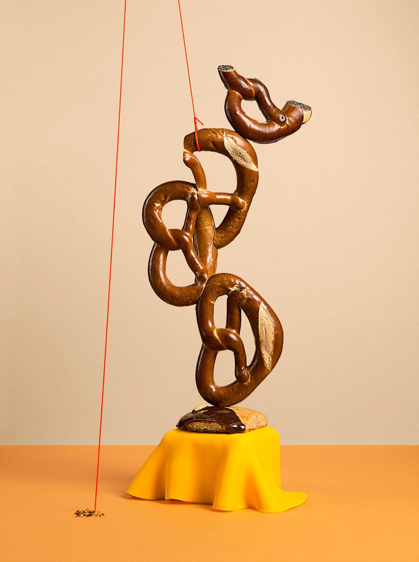 fotografia di scultura con pane
