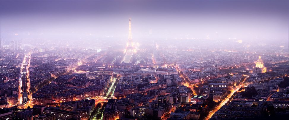 Paris night cityscape