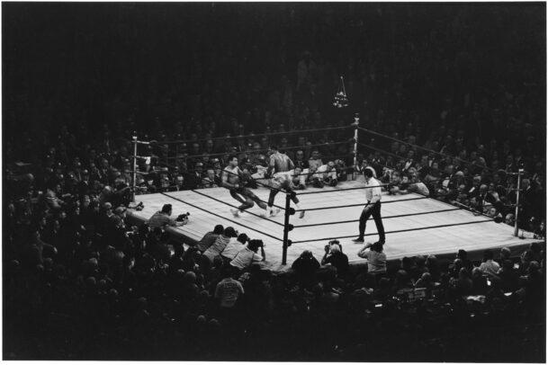 Muhammad ALI and Joe FRAZIER on ring