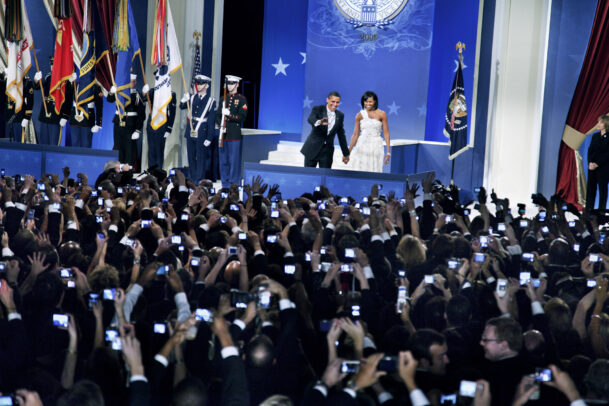 President Barack OBAMA and First Lady Michelle at the Home States Inaugural Ball