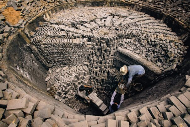 workers make bricks