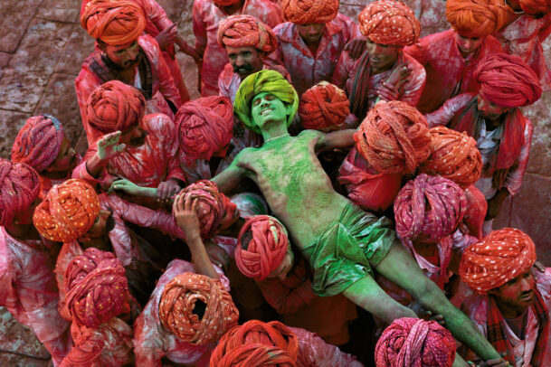 Man at Holi Festival