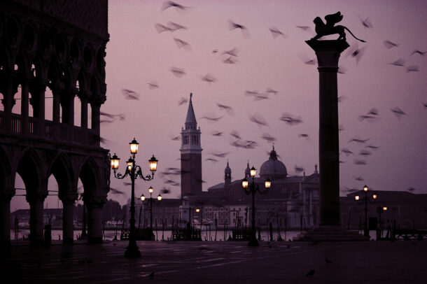 A deserted St. Mark's Square