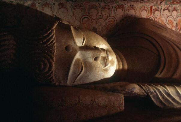 Reclining Buddha in Mogao Caves